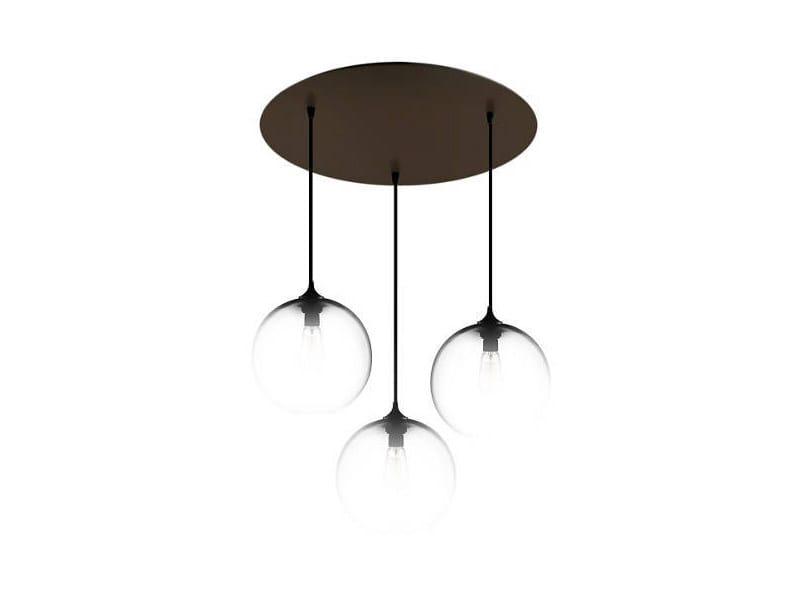 Direct light handmade blown glass pendant lamp CIRCULAR-3 by Niche Modern