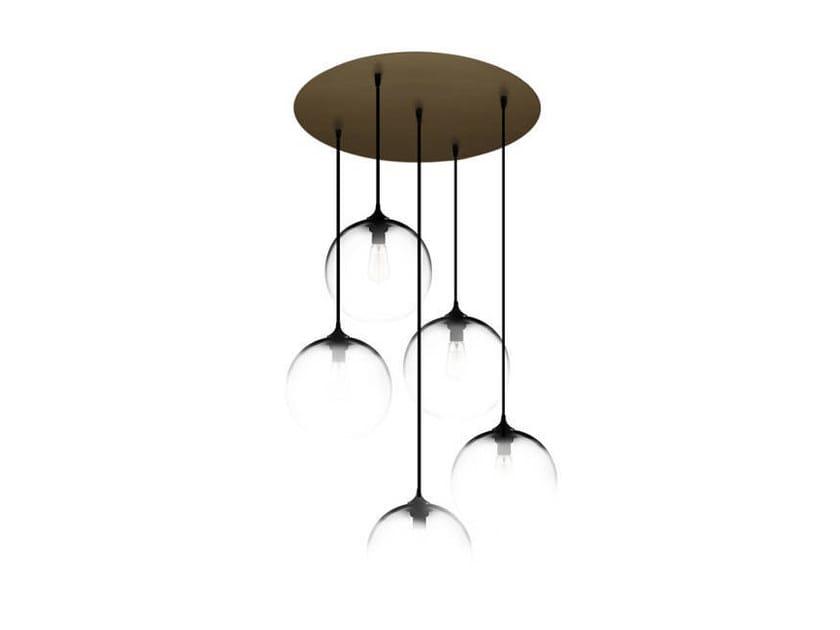 Direct light handmade blown glass pendant lamp CIRCULAR-5 by Niche Modern