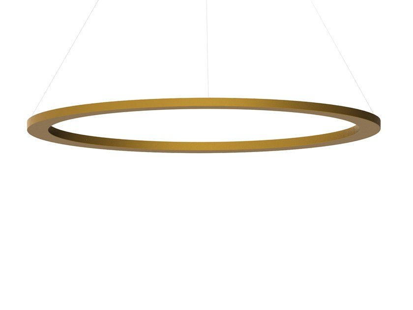 Indirect light pendant lamp CIRCULAR SLIM by Martinelli Luce