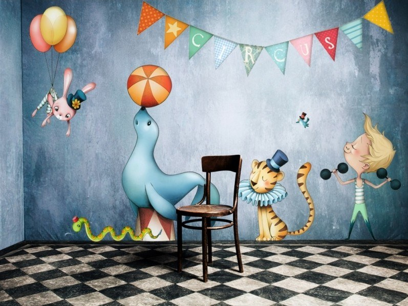 Kids wall sticker CIRCUS 2 by ACTE-DECO