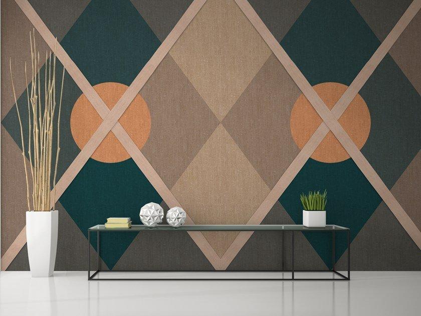 Geometric fire retardant washable wallpaper CIRCUS by Baboon