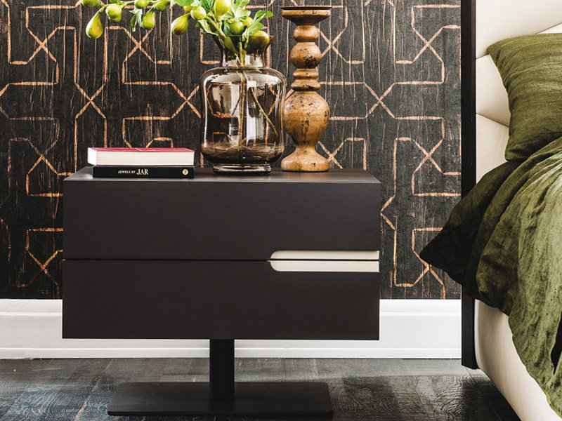 Lacquered rectangular bedside table with drawers CIRO | Bedside table by Cattelan Italia