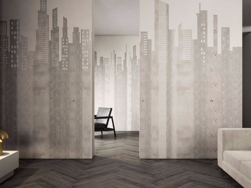 Washable landscape vinyl wallpaper CITY by GLAMORA