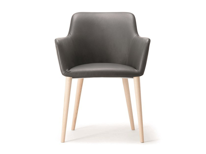 Upholstered leather chair CITY | Leather chair by Quadrifoglio