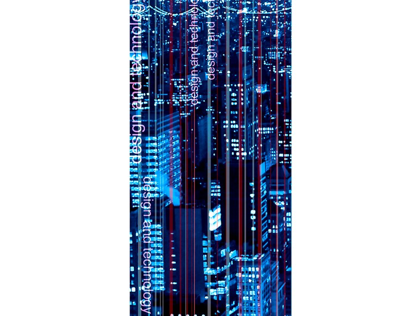 Resin Decorative panel CITY LIGHTS by Tecnografica