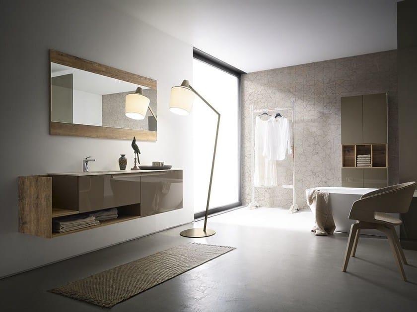 Mobile lavabo laccato singolo sospeso CITY PLAY 178/179 by Cerasa