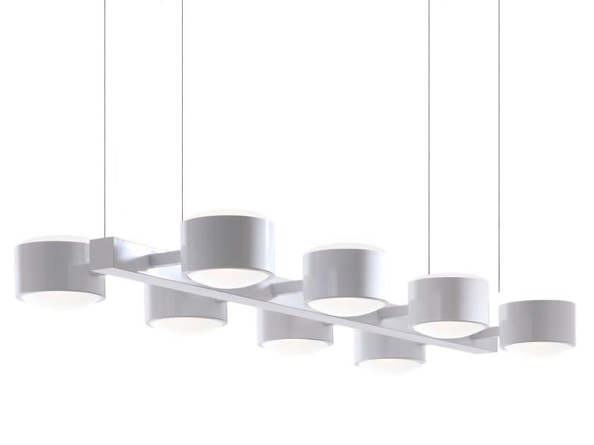 Handmade glass and metal pendant lamp CITY S8 by Luz Difusión