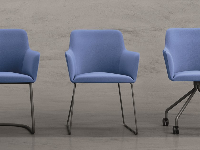 Sled base upholstered chair CITY | Sled base chair by Quadrifoglio