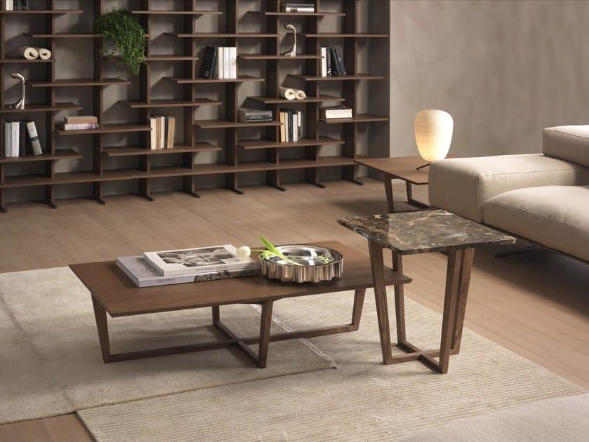 Rectangular coffee table CITY | Wood veneer coffee table by Pacini & Cappellini