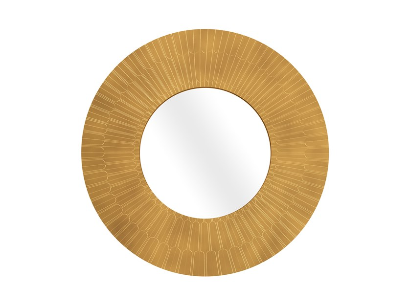 Round framed wall-mounted mirror CITYLIGHTS ORO by Scarlet Splendour