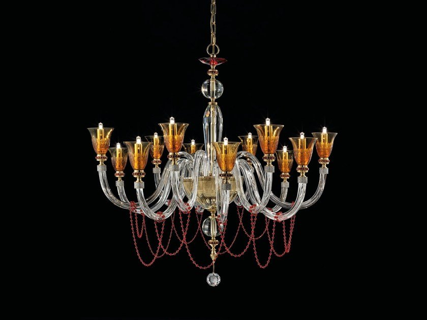 Chandelier with Swarovski® Crystals CLAIRE L6+6 by Euroluce Lampadari