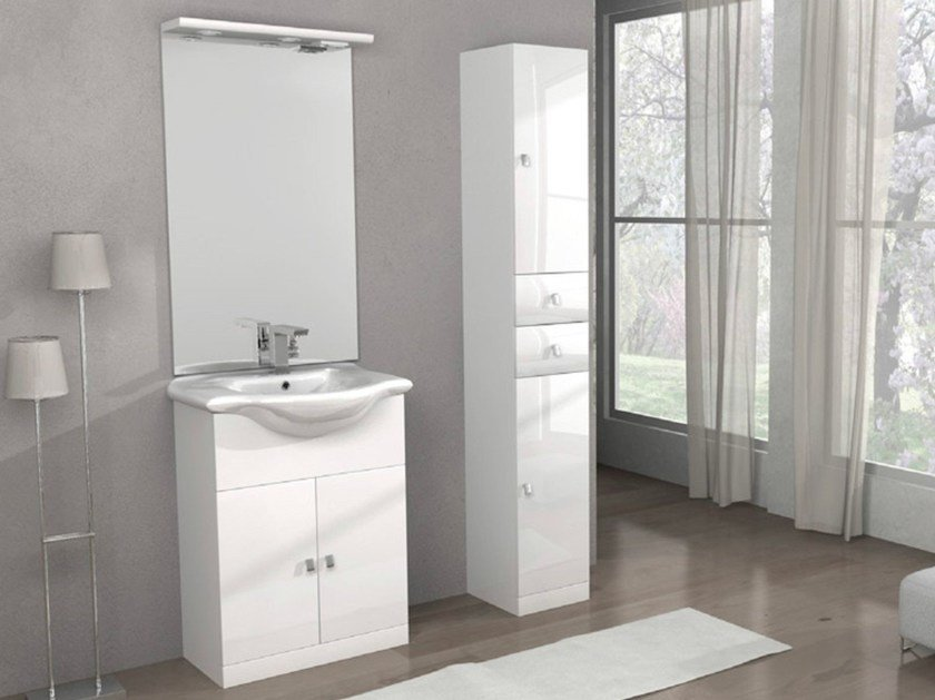 Vanity unit with mirror CLARA by Remail by G.D.L.