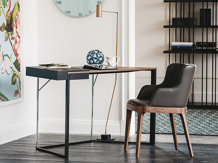 Steel and wood secretary desk CLARION by Cattelan Italia