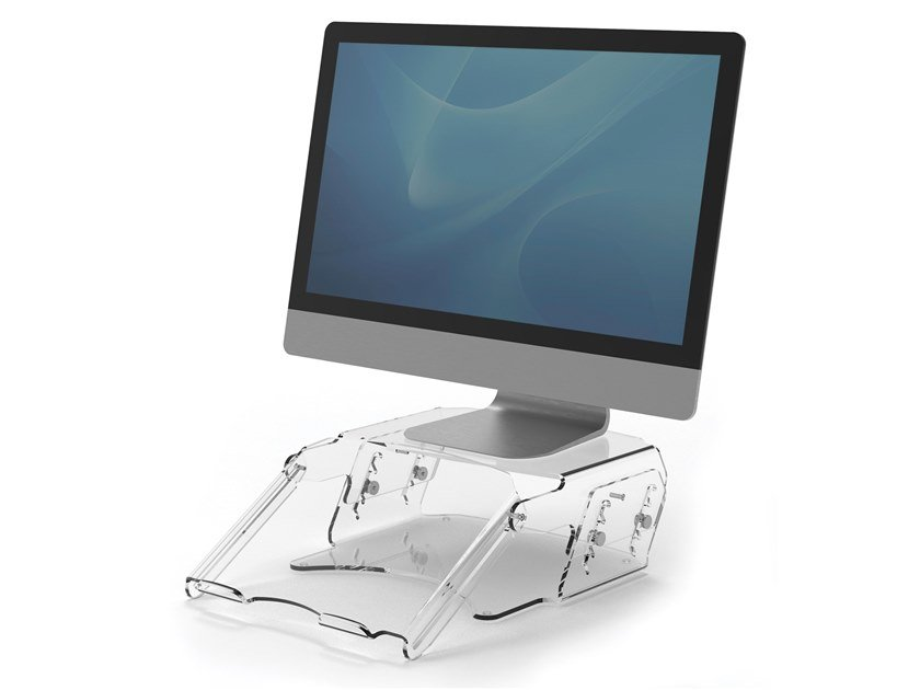 Adjustable monitor riser with document support CLARITY™ | Stand by Fellowes