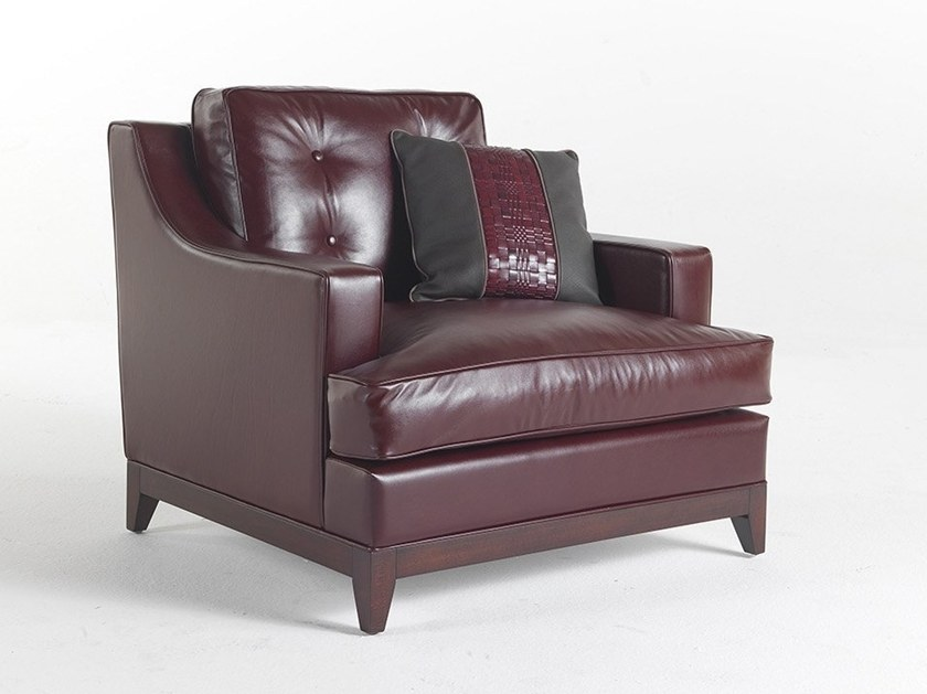 Leather armchair with armrests CLARK | Leather armchair by Gianfranco Ferré Home