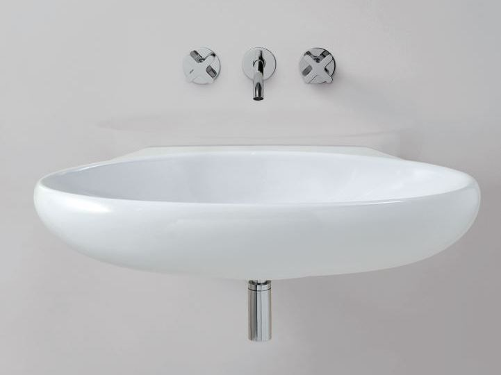 Oval wall-mounted washbasin CLAS+ | Wall-mounted washbasin by AZZURRA sanitari