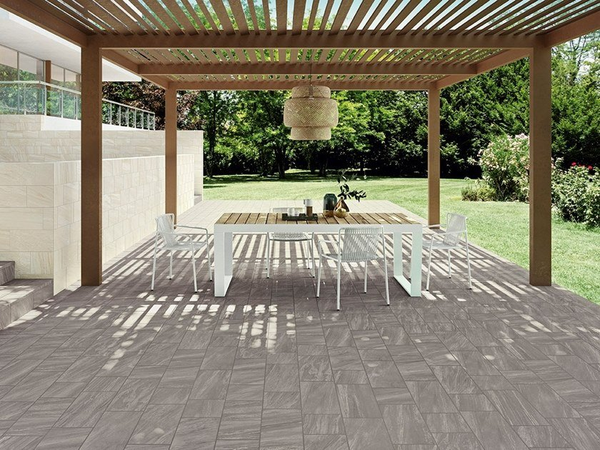 Indoor/outdoor wall/floor tiles with stone effect CLASH NATURE by Ceramiche Caesar