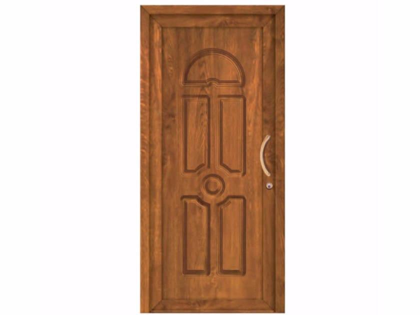 Exterior custom PVC entry door CLASSIC HAMBURG by FOSSATI PVC