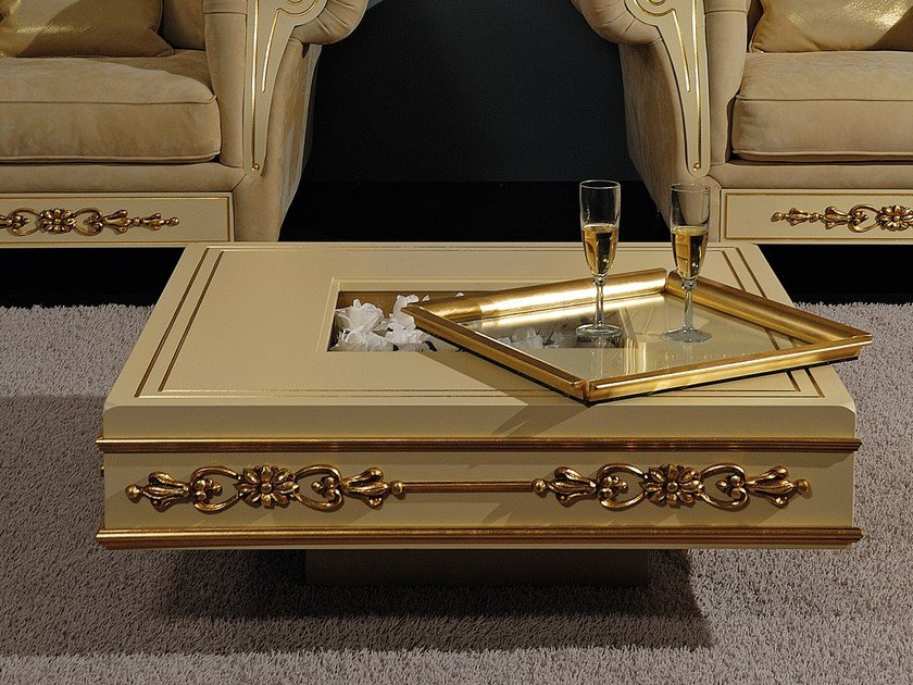 Classic style low lacquered square wooden coffee table CLASSIC | Coffee table by Vismara Design