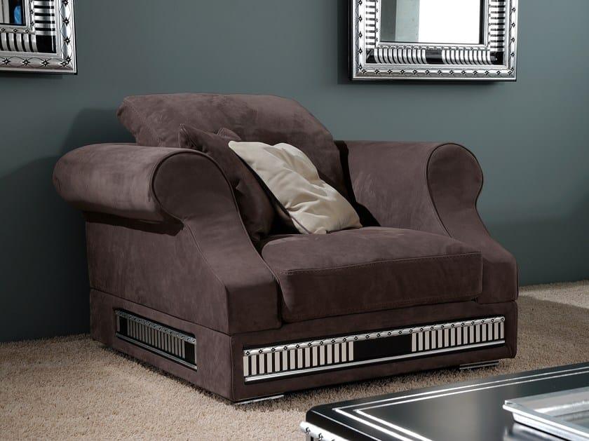 Leather armchair with armrests CLASSIC COMFORT NOUVEAU | Armchair by Vismara Design