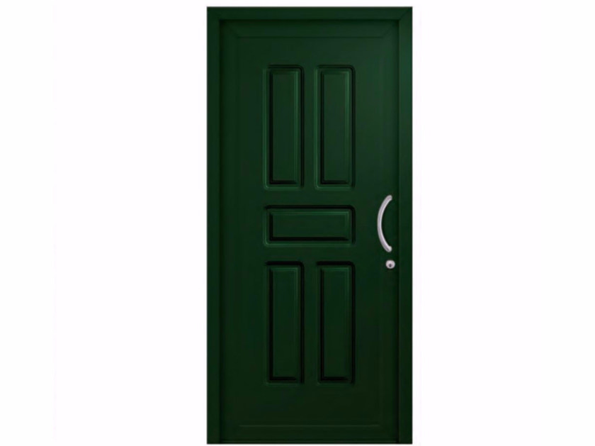 Exterior custom PVC entry door CLASSIC CRACOW by FOSSATI PVC