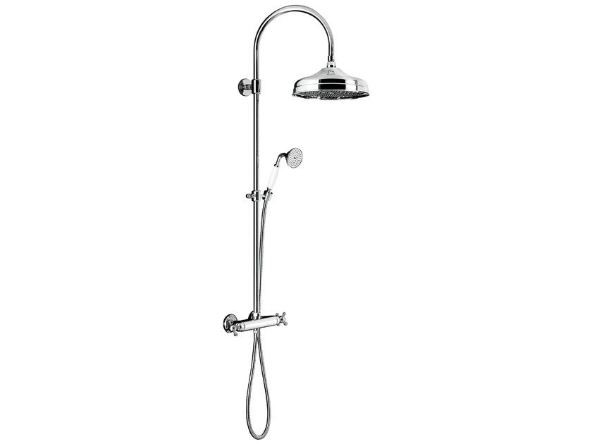 Wall-mounted thermostatic shower panel with overhead shower CLASSIC SHOWERS - 2061273 by Fir Italia