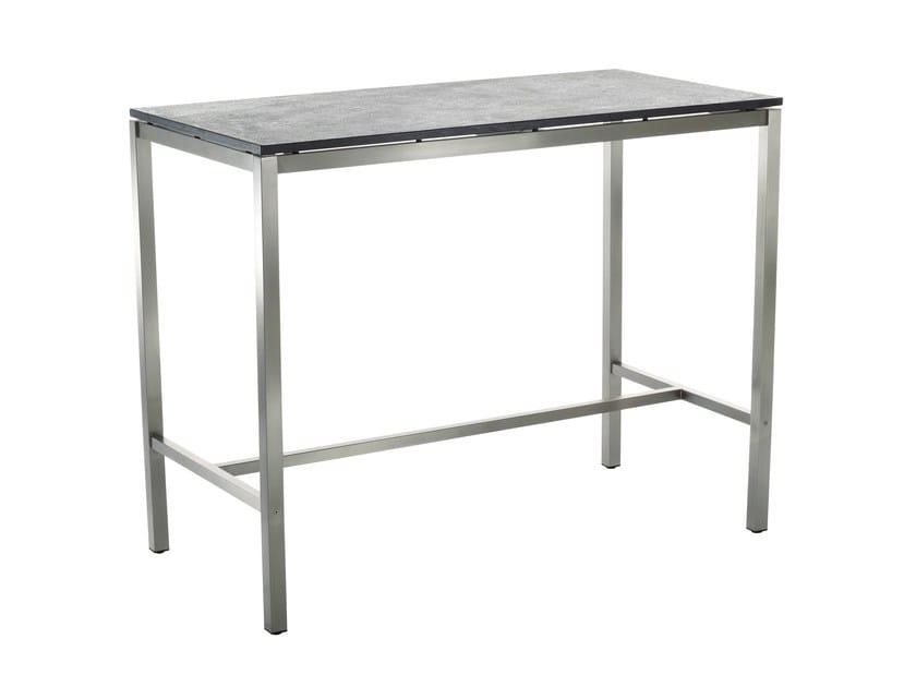 Tavolo alto da giardino rettangolare in ceramica CLASSIC STAINLESS STEEL | Tavolo alto by solpuri