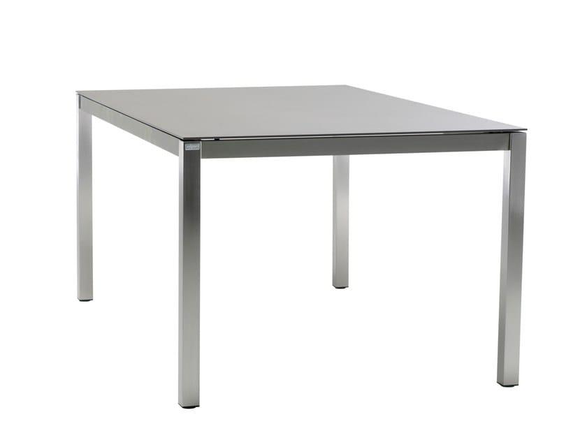 Tavolo da giardino quadrato in ceramica CLASSIC STAINLESS STEEL | Tavolo quadrato by solpuri