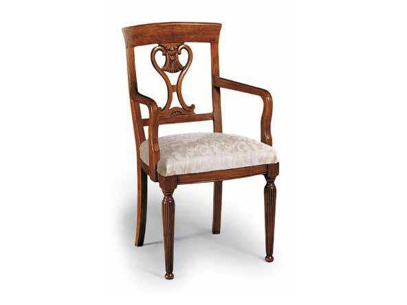 Open back solid wood chair CAVOUR   Chair with armrests by Arvestyle