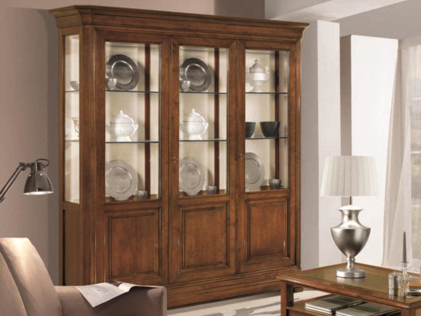 Solid wood display cabinet CAPRI | Solid wood display cabinet by Arvestyle