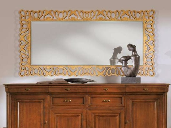 Wall-mounted framed mirror CAPRI | Rectangular mirror by Arvestyle