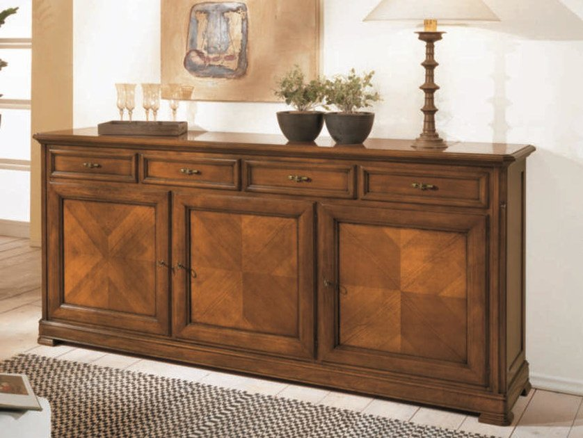 Solid wood sideboard with drawers CAPRI | Solid wood sideboard by Arvestyle