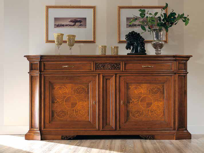 Solid wood sideboard with doors VIVRE LUX | Solid wood sideboard by Arvestyle