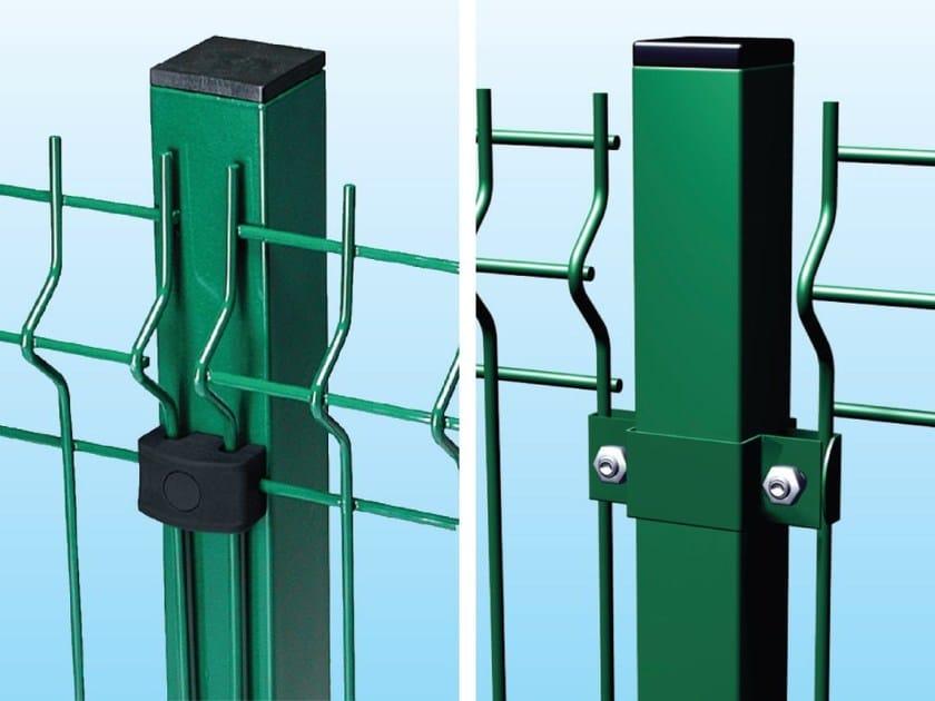 Palo Qudro con piastrina in polipropilene - Palo quadro con collare in acciaio