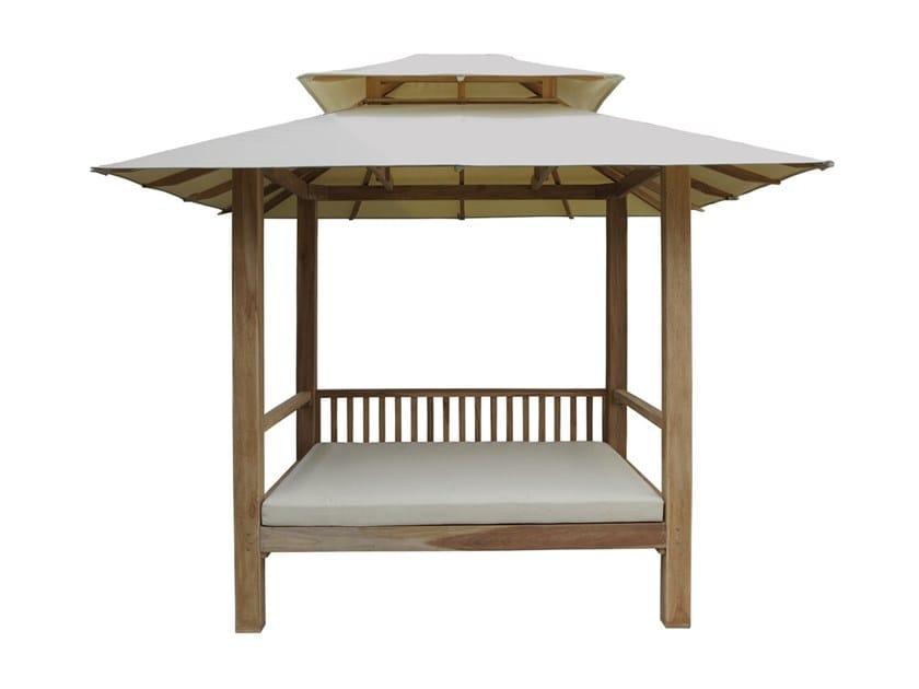 Cabana with fabrics cover CLASSICA | Garden bed by Il Giardino di Legno