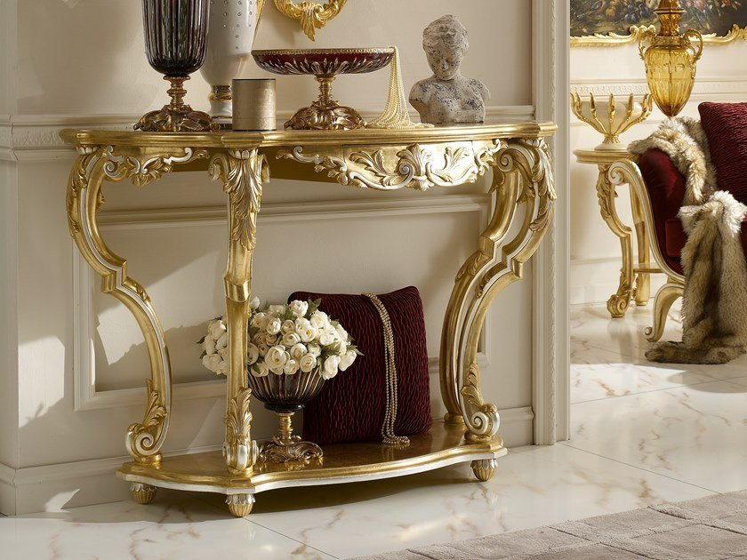 Demilune console table with drawers OPERA | Console table by Andrea Fanfani