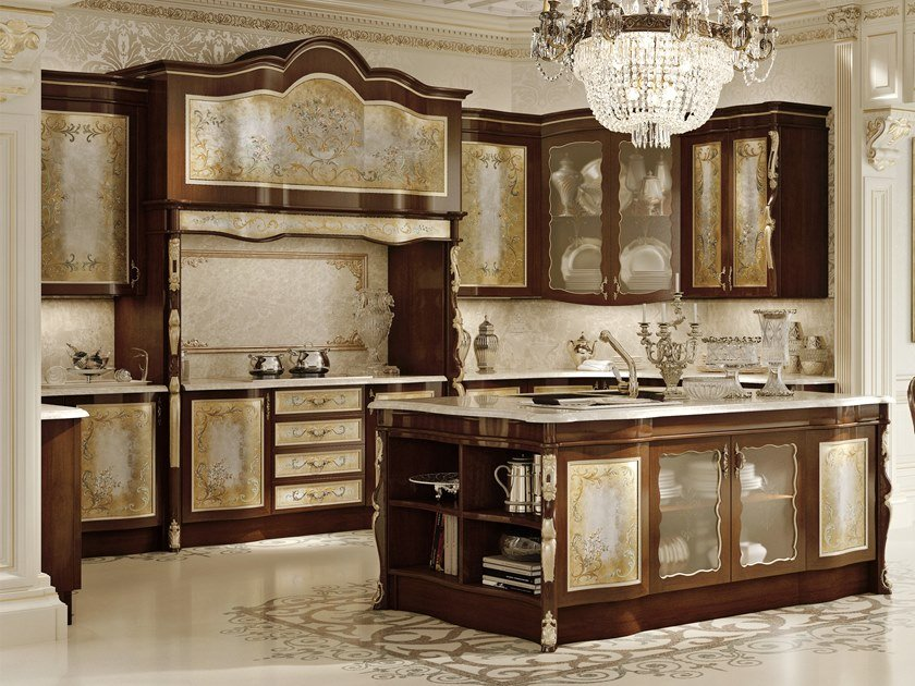 Wooden kitchen with island OPERA | Kitchen by Andrea Fanfani