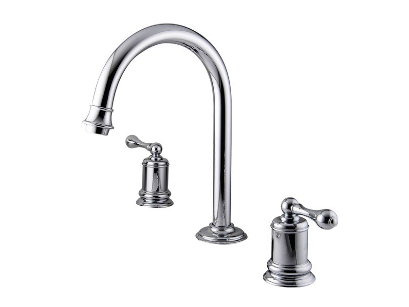 Two-handle basin faucet CLASSIK | 3 hole washbasin tap by JUSTIME