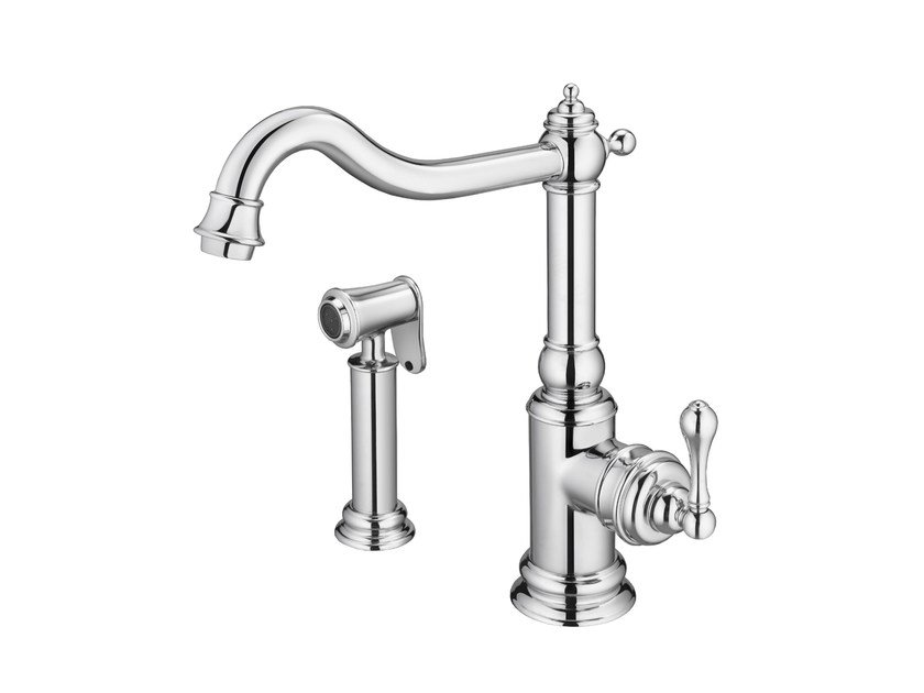 Kitchen faucet with sprayer (Polished chrome) CLASSIK | Kitchen faucet by JUSTIME