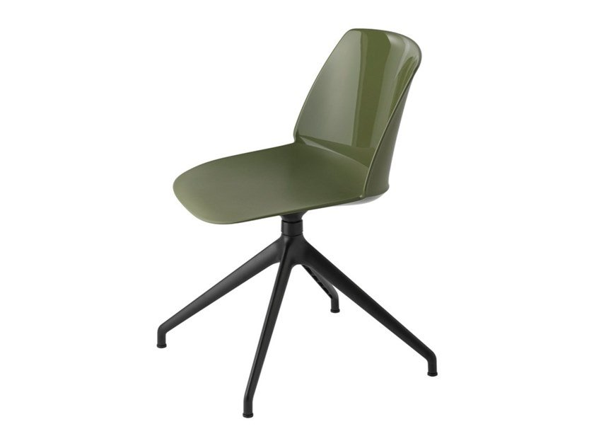 Swivel trestle-based polypropylene chair CLASSY 1086 by Et al.