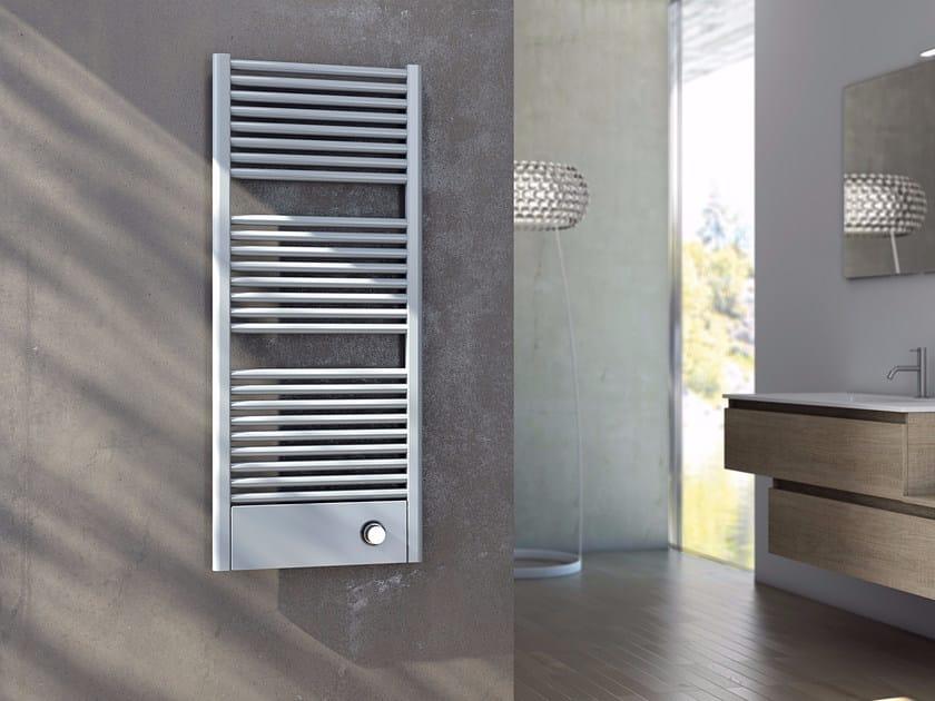 Scaldasalviette ad acqua calda verticale in acciaio al carbonio CLAUDIA® COVER by CORDIVARI