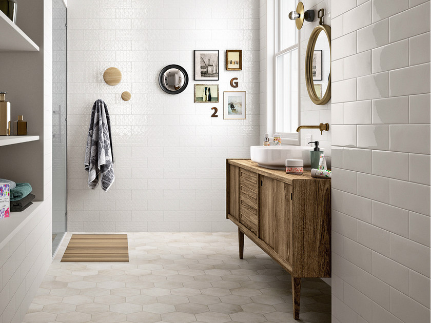 White-paste wall/floor tiles CLAYLINE by MARAZZI