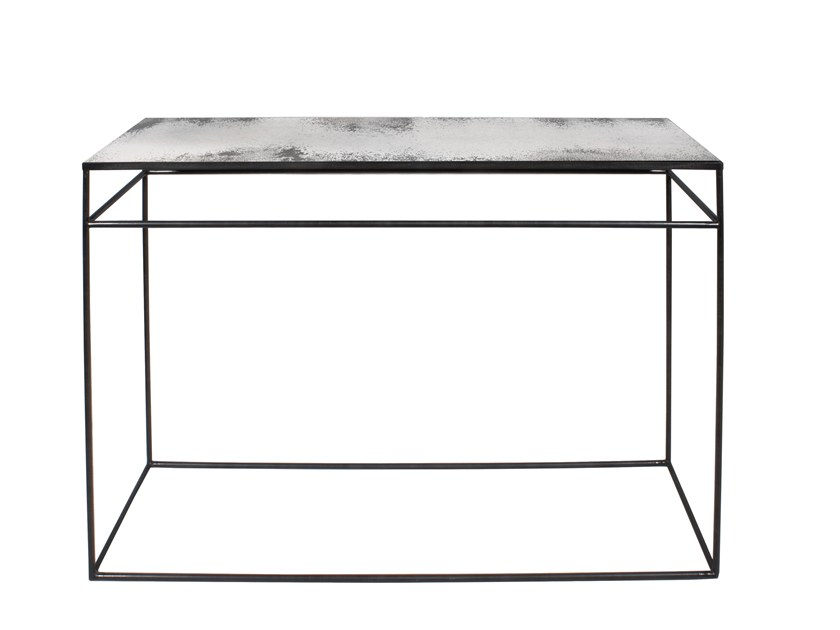 Rectangular mirrored glass console table CLEAR CONSOLE by Notre Monde