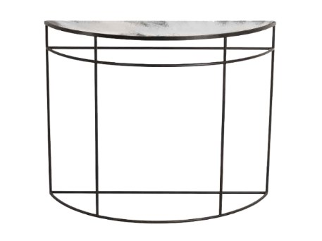 Demilune metal console table CLEAR HALF-MOON by Notre Monde