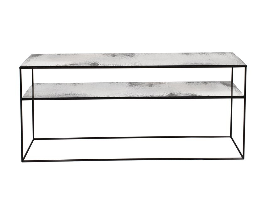 Rectangular mirrored glass console table CLEAR SOFA CONSOLE by Notre Monde