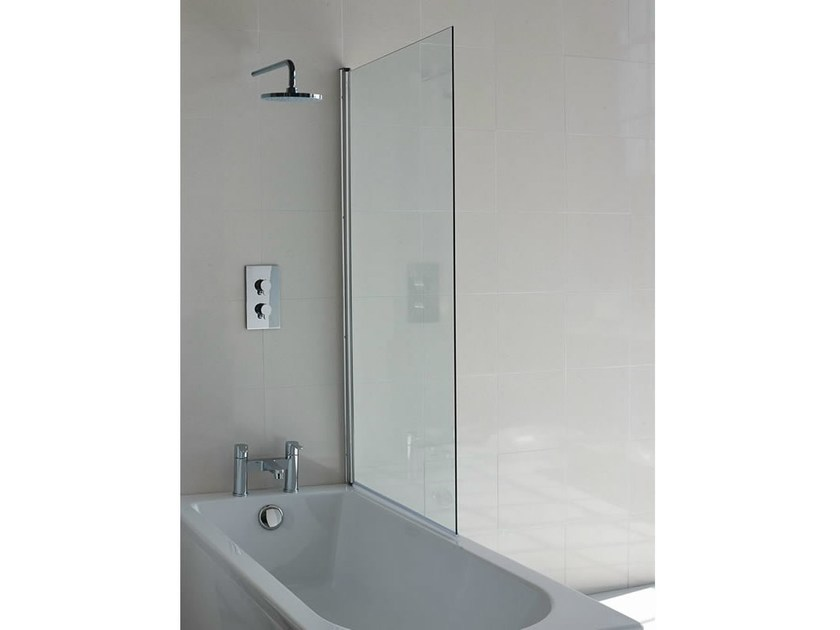 Glass bathtub wall panel CLEARGREEN - BS1 by Polo