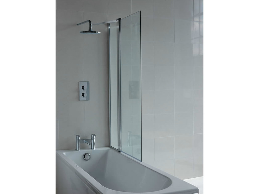 Glass bathtub wall panel CLEARGREEN - BS2 by Polo