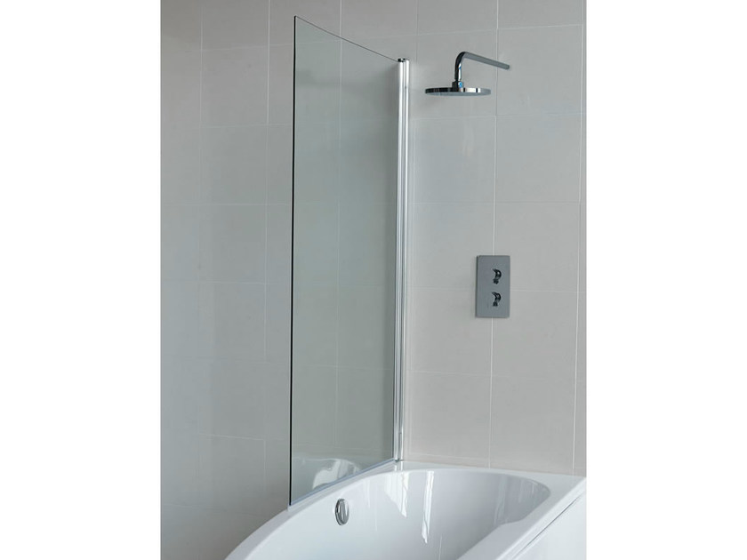 Glass bathtub wall panel CLEARGREEN - ECOCURVE BS6 by Polo