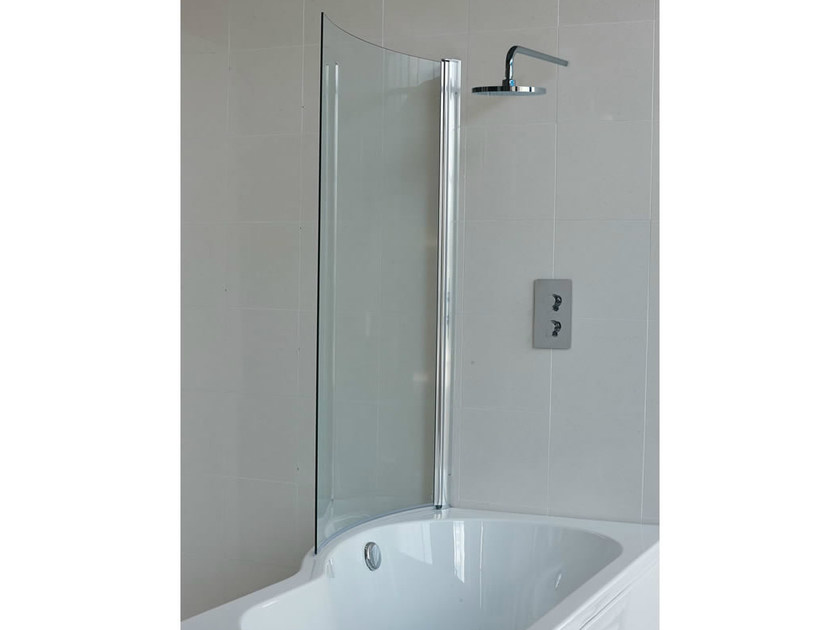 Glass bathtub wall panel CLEARGREEN - ECOROUND BS7 by Polo