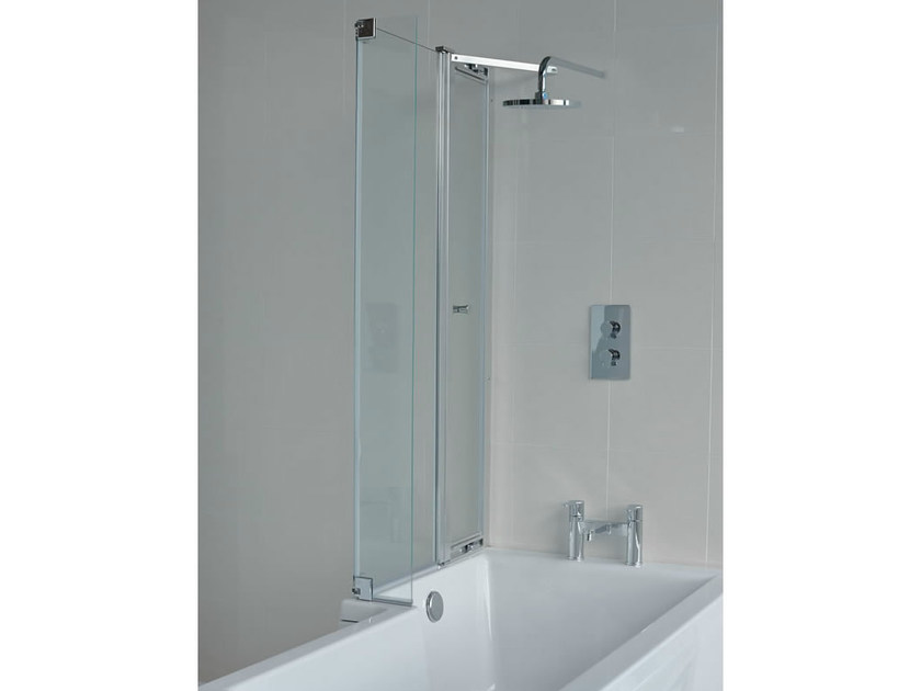 Glass bathtub wall panel CLEARGREEN - ECOSQUARE BS8 by Polo